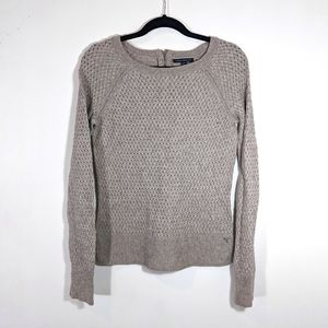 AEO Zip-back Knit Sweater with Wool